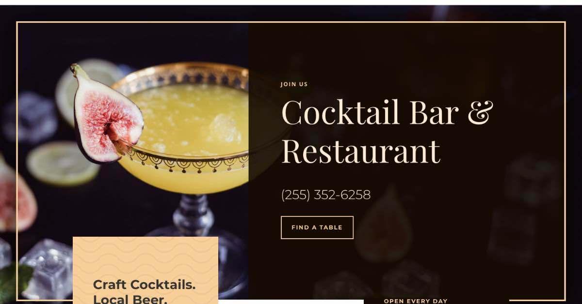 Cocktail Bar Restaurant Template