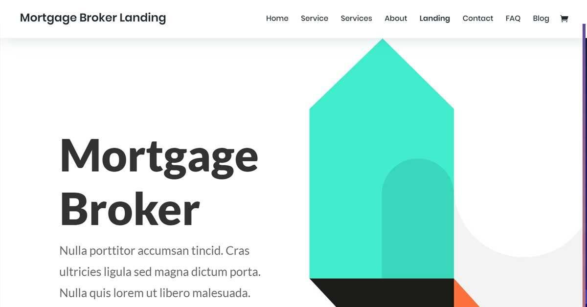 Mortgage Broker Website Template