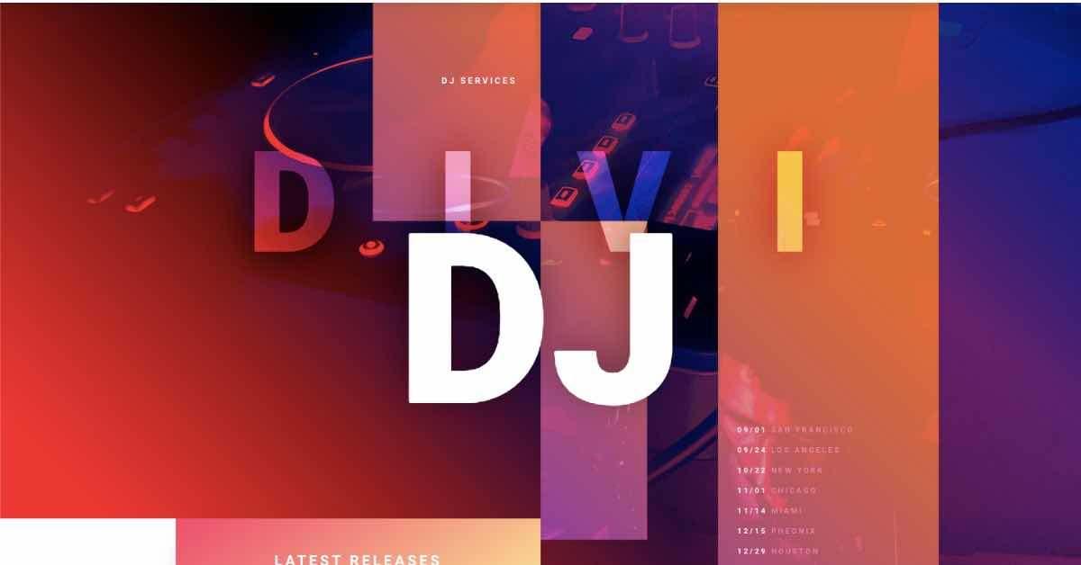 DJ Template Website