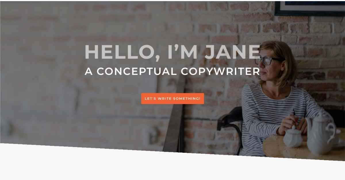 Copywriter Template Website