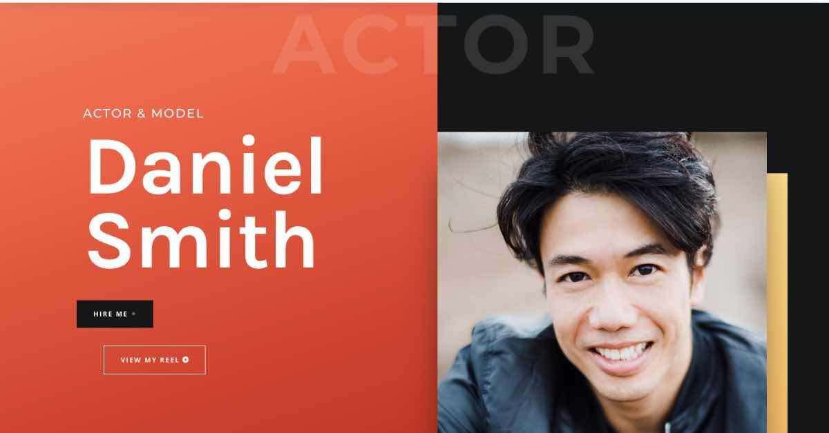 Actor Website Template