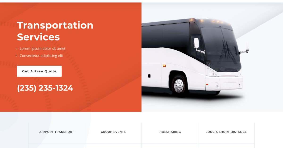 Transportation Services Template