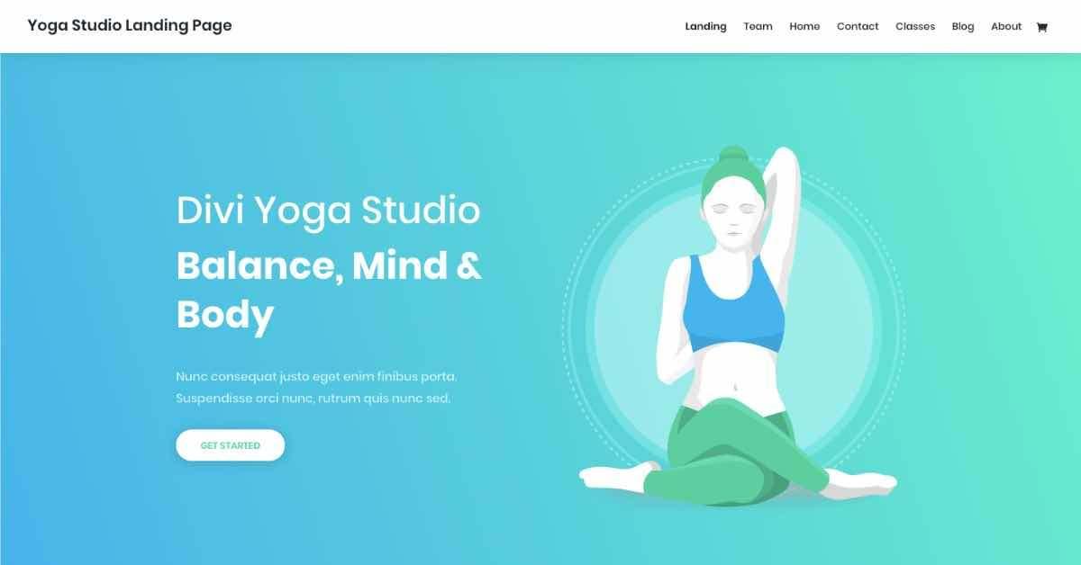 Yoga Studio Fitness Template