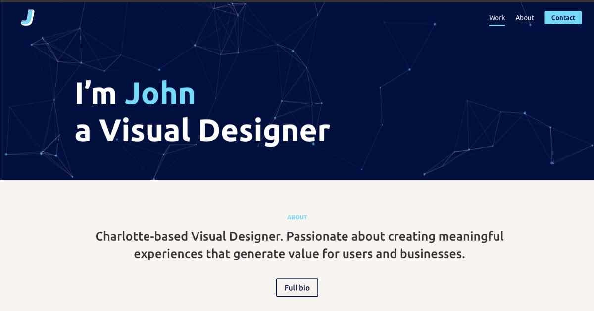 John Web Design Resume Example
