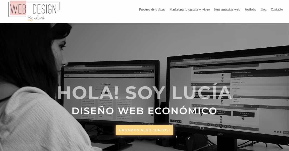 Lucia Web Design Resume Example