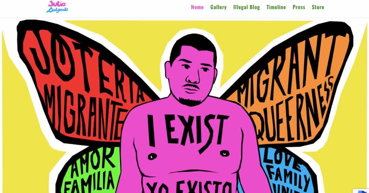 Julio Artist Website Example